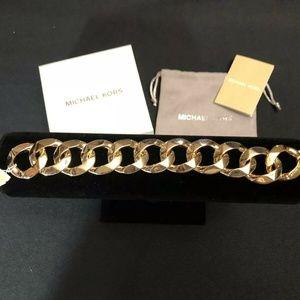 NWT Michael Kors Gold-Tone Curb Link Bold Bracelet